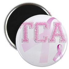 TCA initials, Pink Ribbon, Magnet