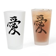 Japanese Love Drinking Glass