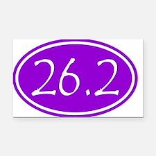 Purple 26.2 Oval Rectangle Car Magnet