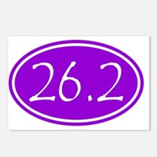 Purple 26.2 Oval Postcards (Package of 8)