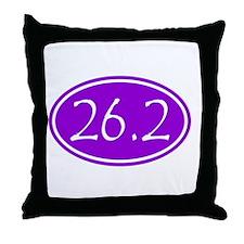 Purple 26.2 Oval Throw Pillow