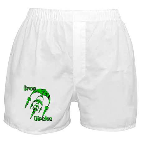 Crop Circle #3 Green Boxer Shorts