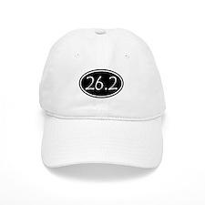 Black 26.2 Oval Baseball Baseball Cap