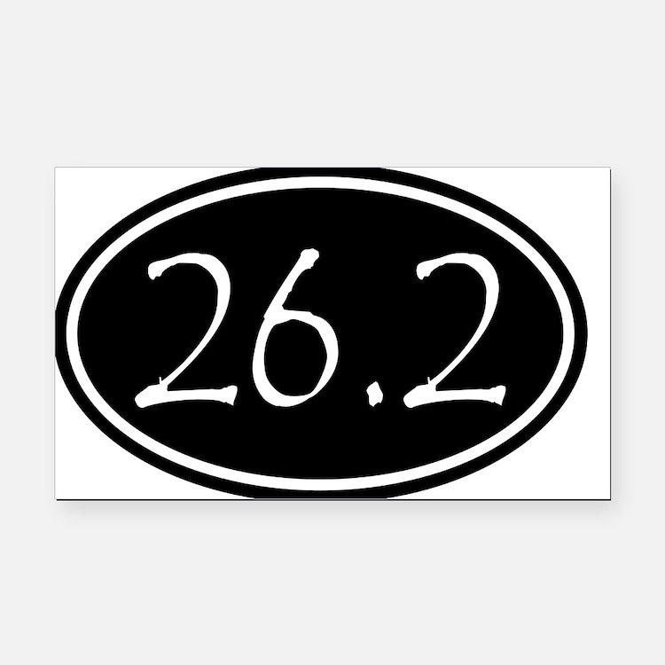 Black 26.2 Oval Rectangle Car Magnet