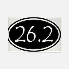 Black 26.2 Oval Magnets