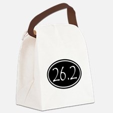 Black 26.2 Oval Canvas Lunch Bag