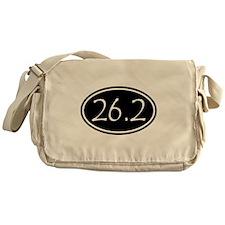 Black 26.2 Oval Messenger Bag