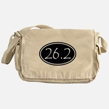Black 26.2 Oval Messenger Bag