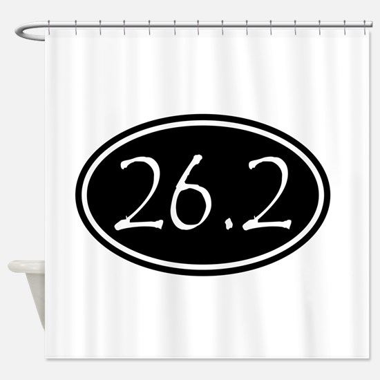 Black 26.2 Oval Shower Curtain