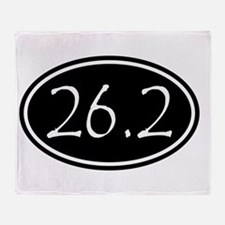 Black 26.2 Oval Throw Blanket