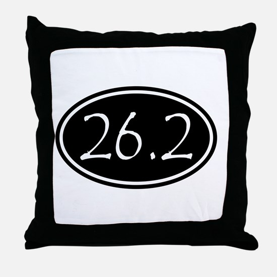Black 26.2 Oval Throw Pillow