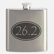 Black 26.2 Oval Flask