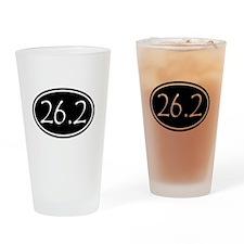 Black 26.2 Oval Drinking Glass