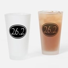 Black 26.2 Oval Drinking Glass