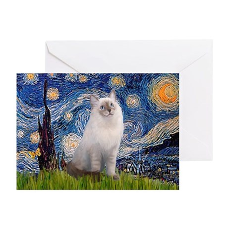 Starry Night Ragdoll Greeting Cards (Pk of 10)