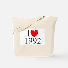"""I Love 1992"" Tote Bag"