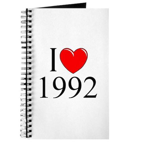 """""""I Love 1992"""" Journal"""