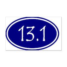 Blue 13.1 Oval Rectangle Car Magnet