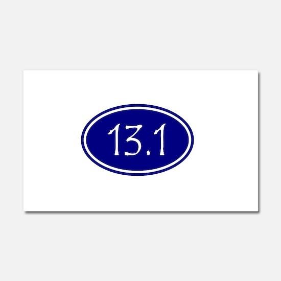 Blue 13.1 Oval Car Magnet 20 x 12