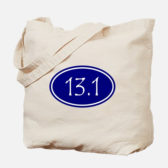 Blue 13.1 Oval Tote Bag