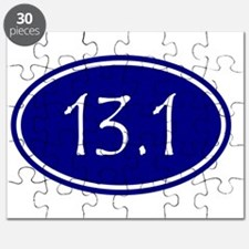 Blue 13.1 Oval Puzzle