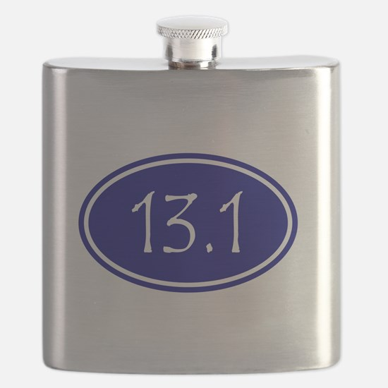 Blue 13.1 Oval Flask