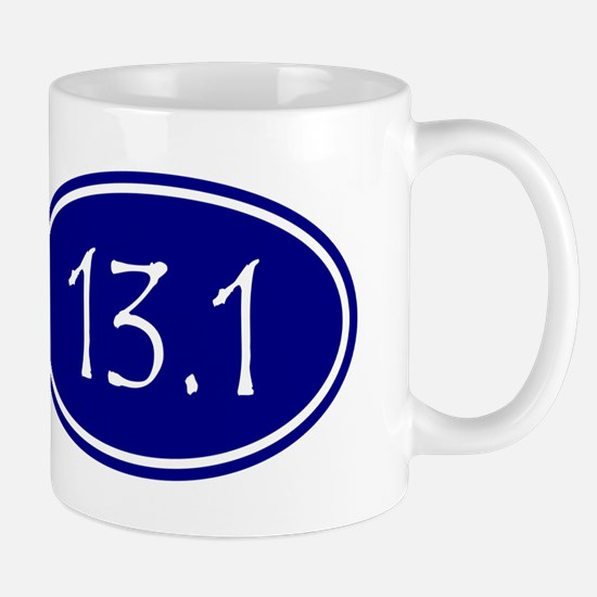 Blue 13.1 Oval Mugs