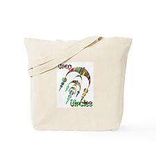Crop Circle #3 Tye Dye Tote Bag
