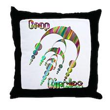 Crop Circle #3 Tye Dye Throw Pillow