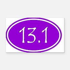 Purple 13.1 Oval Rectangle Car Magnet