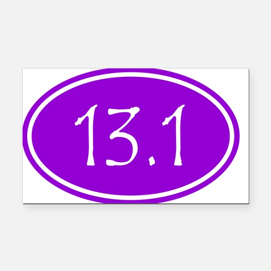Purple 13.1 Oval Rectangle Car Magnet