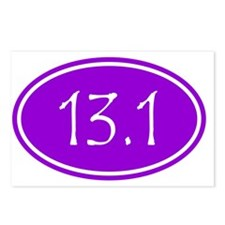 Purple 13.1 Oval Postcards (Package of 8)