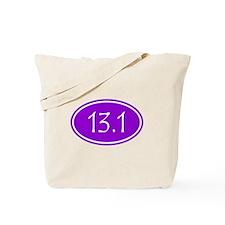 Purple 13.1 Oval Tote Bag
