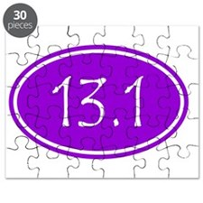 Purple 13.1 Oval Puzzle