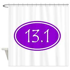 Purple 13.1 Oval Shower Curtain
