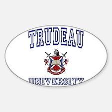 TRUDEAU University Oval Decal
