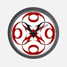 Six Foot Vertical Keltic Logo Red  Blac Wall Clock
