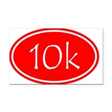 Red 10k Oval Rectangle Car Magnet