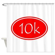 Red 10k Oval Shower Curtain