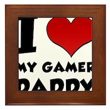 I Heart My Gamer Daddy Framed Tile