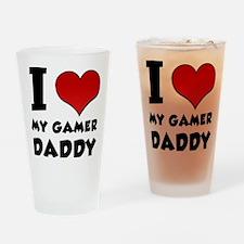 I Heart My Gamer Daddy Drinking Glass