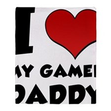 I Heart My Gamer Daddy Throw Blanket