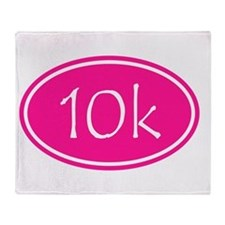 Pink 10k Oval Throw Blanket