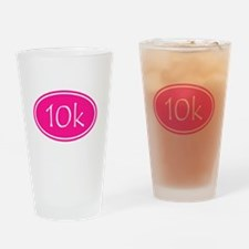 Pink 10k Oval Drinking Glass