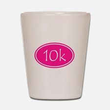 Pink 10k Oval Shot Glass