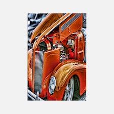 hdr orange antique car Rectangle Magnet