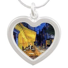 Cafe Terrace at Night by Vincent van Gogh Necklace