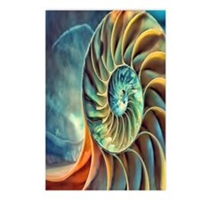 rainbow seashell Postcards (Package of 8)