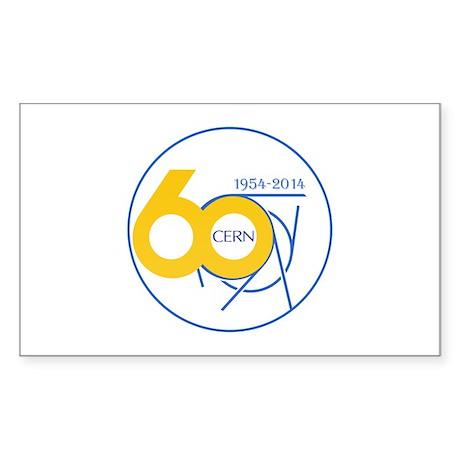 CERN Turns 60!! Sticker (Rectangle)
