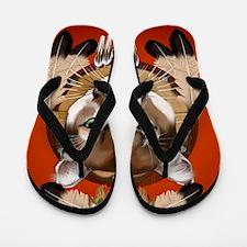Queen Duvet Cougar Shield Flip Flops